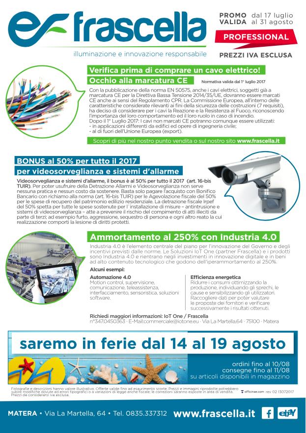 volantino frascella offerte materiale eletrrico estate 2017 offerte 3